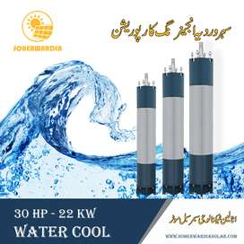 Solar Submersible Motor. Italian Technology. 30 HP Water Cool, 6Inches