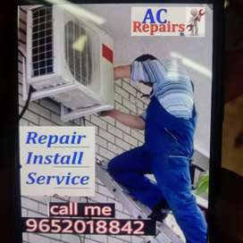Ac installation ac gas refilling all repair works