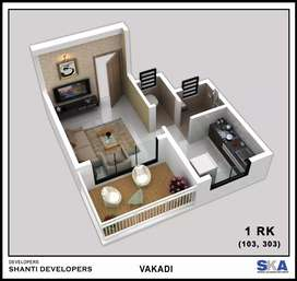 Buy spacious 1 RK with tarres just@20 lacs