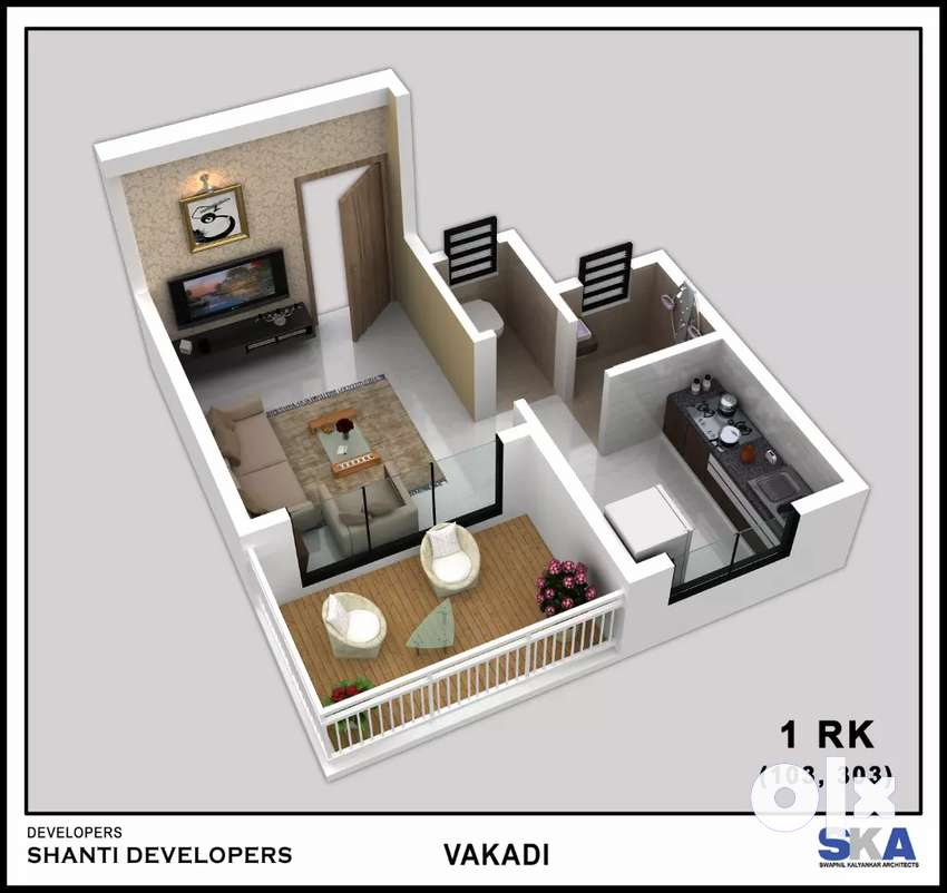 Buy spacious 1 RK with tarres just@20 lacs 0