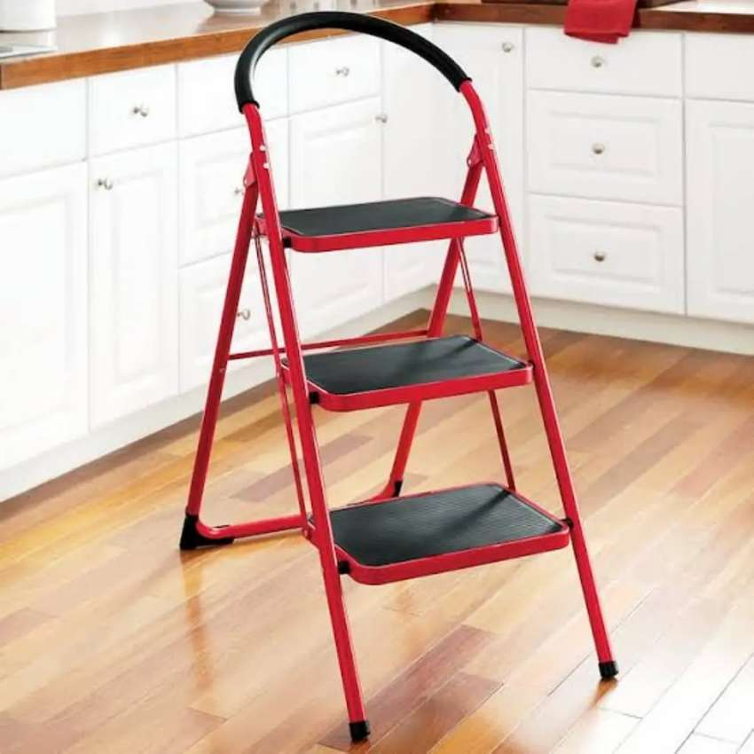 3 step folding ladder Red  (AONE) 0