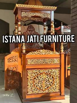 Ready stock mimbar masjid khutbah masjid mimbar ukir