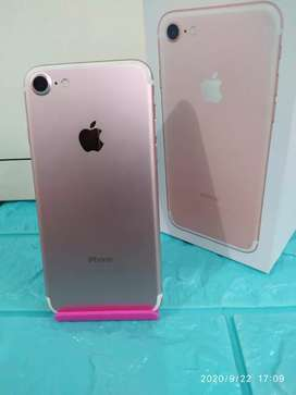 DIJUAL MURAH IPHONE 7 Warna ROSEGOLD 128Gb LIKE NEW INTER ORI FULLSET