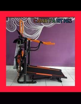 alat fitnes treadmill manual 6 fungsi atau multyfungsi