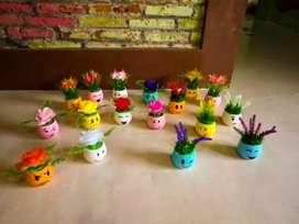 Bunga hias artificial imitasi palsu plastik emoji lucu