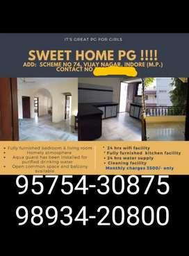 PG for girls at posh are in Indore at Vijay nagar