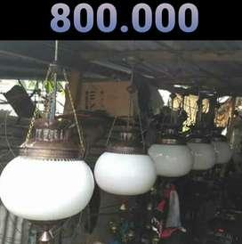 Lampu Gantung Antik Klasik Kuningan Asli  Hias Joglo Gebyok