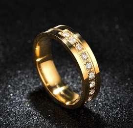 Cincin tunangan pria wanita gold premium murah