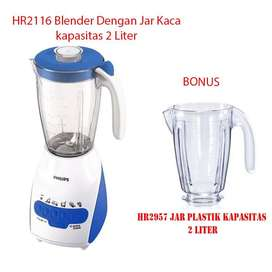 Philips HR2116 Blender Jar Kaca 2 LIter Bonus Jar Plastik HR2957
