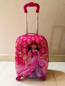 Kid girl's trolley bag