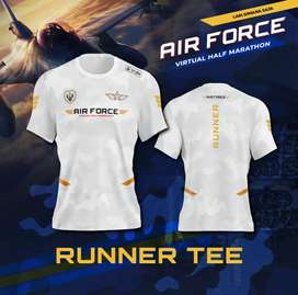 Jersey Drifit Lari /Running Marathon AIR FORCE RUN