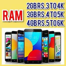 2GB RAM, 3GB RAM, 4GB RAM Cheap Price Mobiles Available