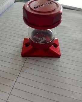 Tutup minyak rem atas pcx adv motor laki model transparan merah nissin