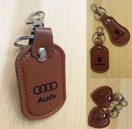 AB gantungan kunci kulit imitasi car logo
