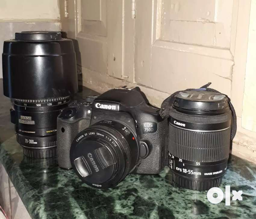 Sale my canon 750d and 3lens 0