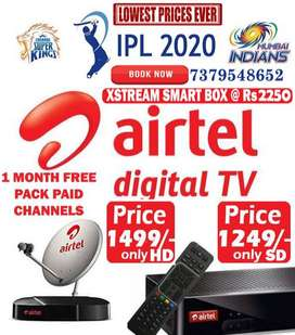 AIRTEL DTH HD SD BOX DISH LOWEST PRICES TATA SKY TATASKY D2H IPL OFFER