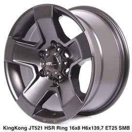 Kredit Bunga 0% KINGKONG JT521 HSR R16X8 H6X139,7 ET25 SMB