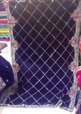 Embroidered Velvet Shawls with FREE Delivery Nationwide!