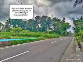 Jual Tanah Tepi Jalan raya dkt Utara Boyong Kalengan Resto Pakem