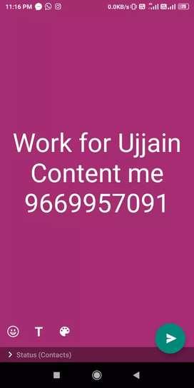 Arjent riqvariment for male female work at Ujjain