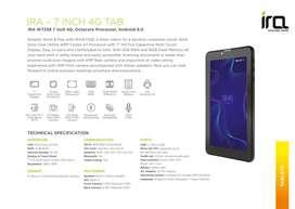 Ira 7 Inch 4G tab Fresh
