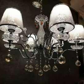 Lampu gantung kristal kap klassik