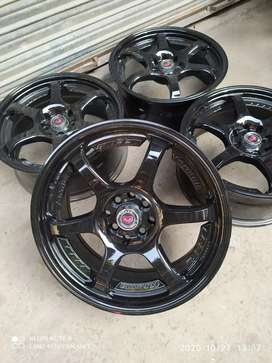 """17"""" Made in Thailand 4 nuts 100/11pcd alloy rims"""