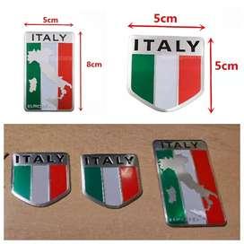 Stiker 3D bendera Italia