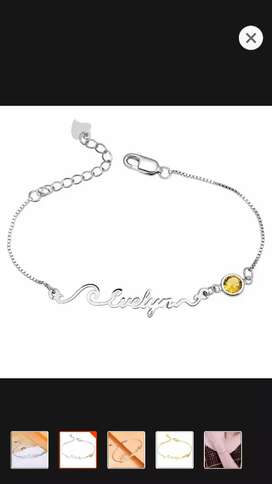 Your own name gold and silver plated bracelet