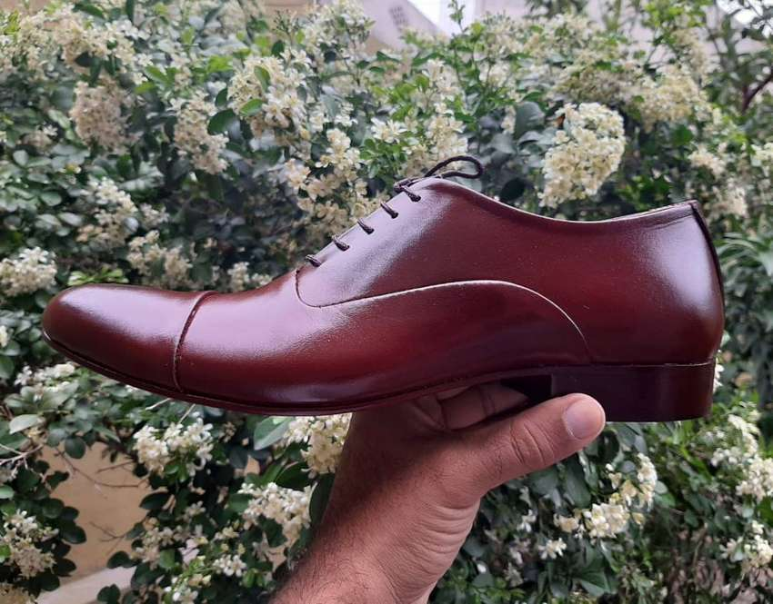 BROWN REAL LEATHER HAND MADE FORMAL SHOES FOR MEN WITH LEATHER SOLE 0