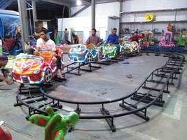 JUAL wahana mini coaster kereta rel bawah odong pancingan elektrik iiw