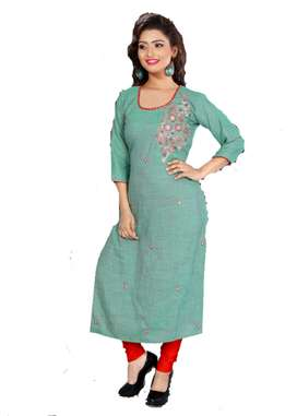 Designer Kurti With Red And Blue Design | Distributor & Wholesalers