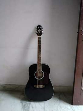 Ashton D20 BK acoustic guitar with an Output Jack.