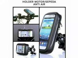 Holder HP GPS Stang Sepeda / Motor Waterproof Anti Air 6.3 inchi