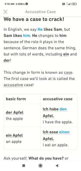 German language tutorial class done here