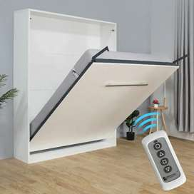 Remote control wall mounted bed