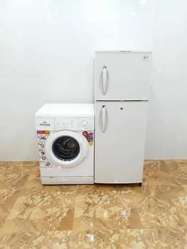 My IFB 5.5 kg front load and LG double door 250 litre refrigerator ¥kd