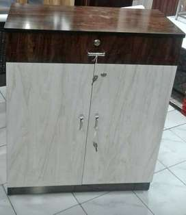 Brown And White Wooden Cabinet