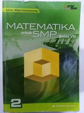 Buku Matematika Kls 8 (Sukino/Wilson S)