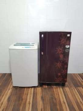 Godrej single door refrigerator and washing machine