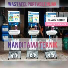 Wastafel cuci tangan tnpa sentuh(wastafel portable,portabel,injak)