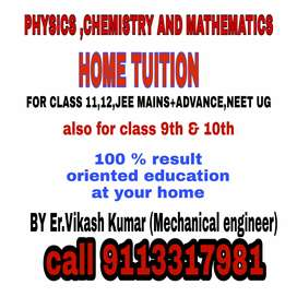 11th 12th PHYSICS chemistry and mathematics home tuition by Er.Vikash