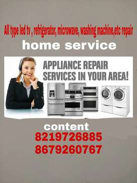 All type led tv , refrigerator, washing machine repair