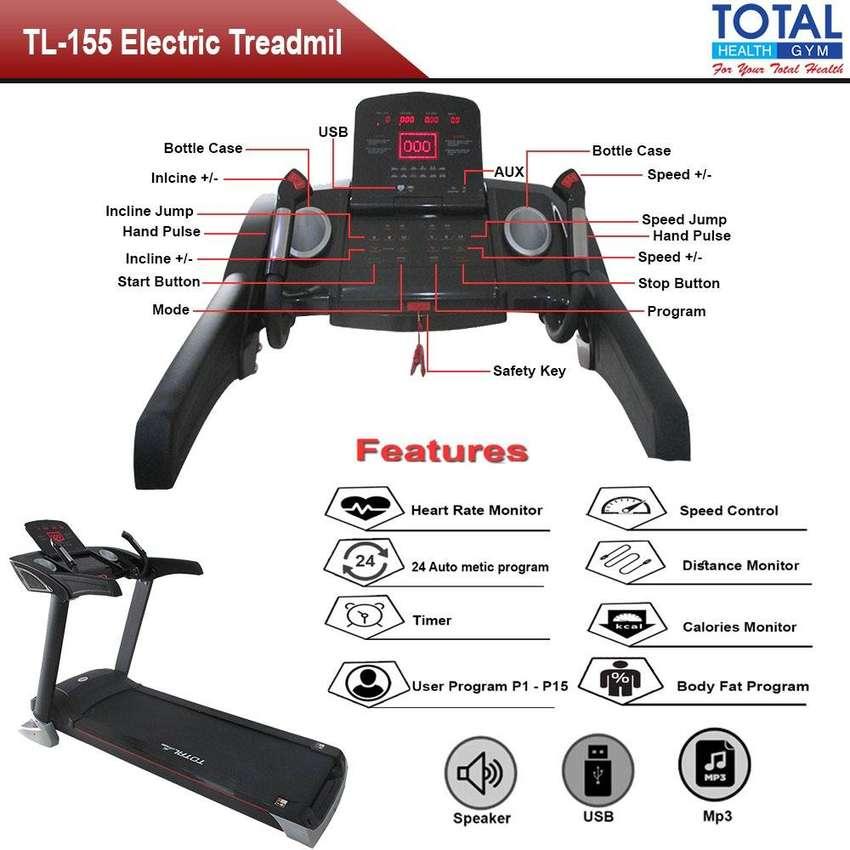 Alat fitnes Baru Treadmill Elektrik 3,5 HP TL 155 I Layar TOUCHSCREEN 0