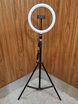 26cm Ring light with 7.5 feet metal stand