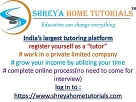 Urgent Tutor Recruitment In Mumbai For Pvt Ltd Company