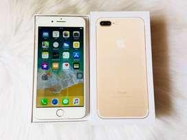 i phone 7 plus gold color all accessories with bill & box  cod service