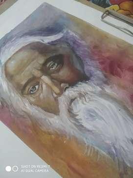 Ravindra Tagore painting.. Negotiable price