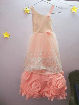 Pink colour Girls Rose Frock