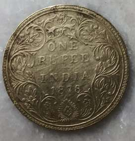 Old coin 1878 (143 years old coin)